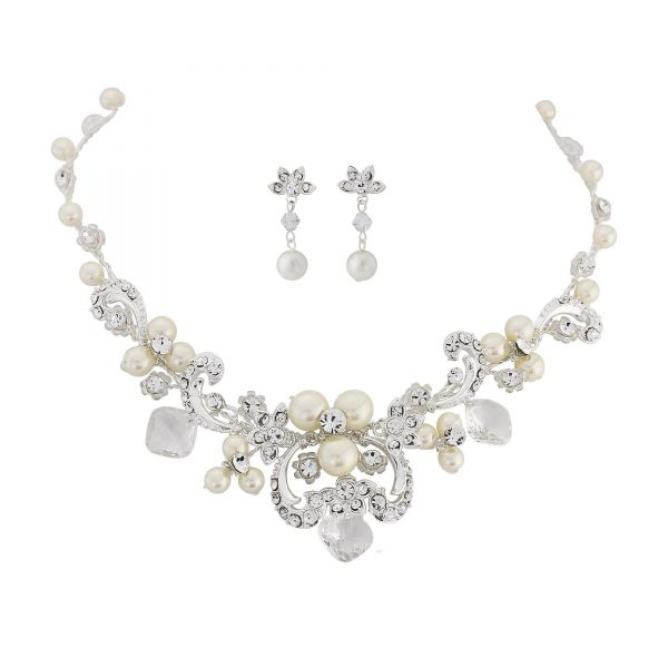 Vintage Dream Pearl Bridal Necklace Set