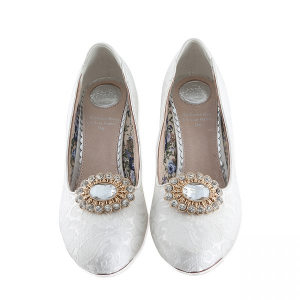 Perfect Bridal Pear Shoe Trim - Gold
