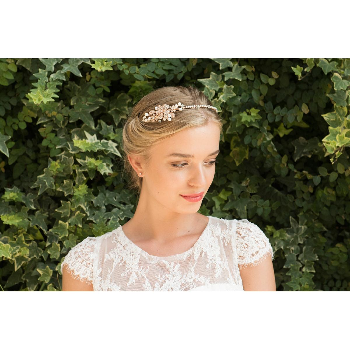 Ivory & Co Molly Crystal and Pearl Hairpiece 2