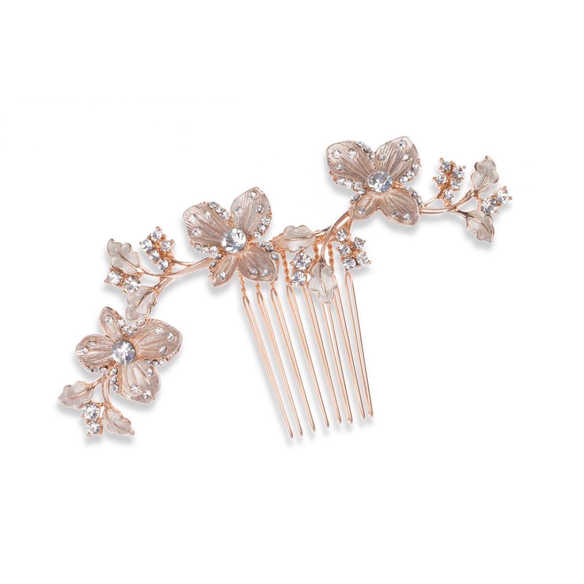 Ivory & Co Petunia Golden Hair Comb 1