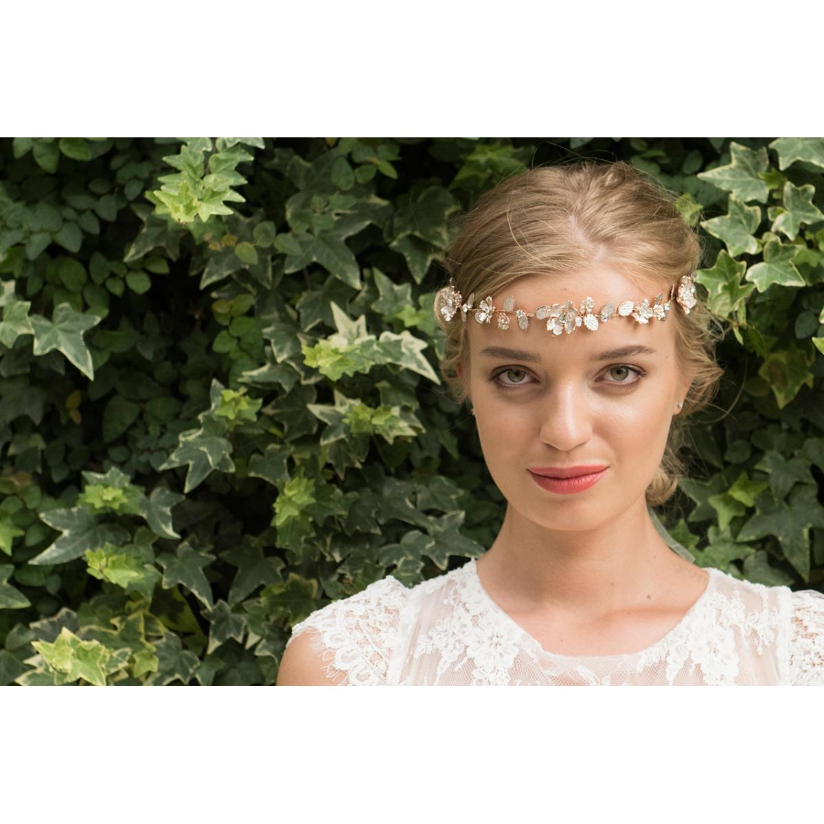 Ivory & Co Sienna Rose Gold Crystal Hairvine 4