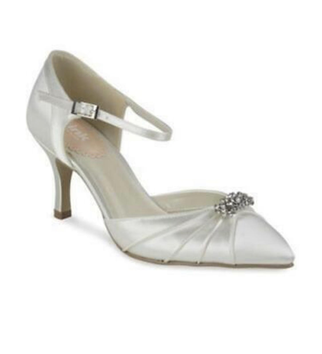 Pink Low Heel Wedding Shoes: Pink Paradox Elegance Ivory Low Heel Shoe