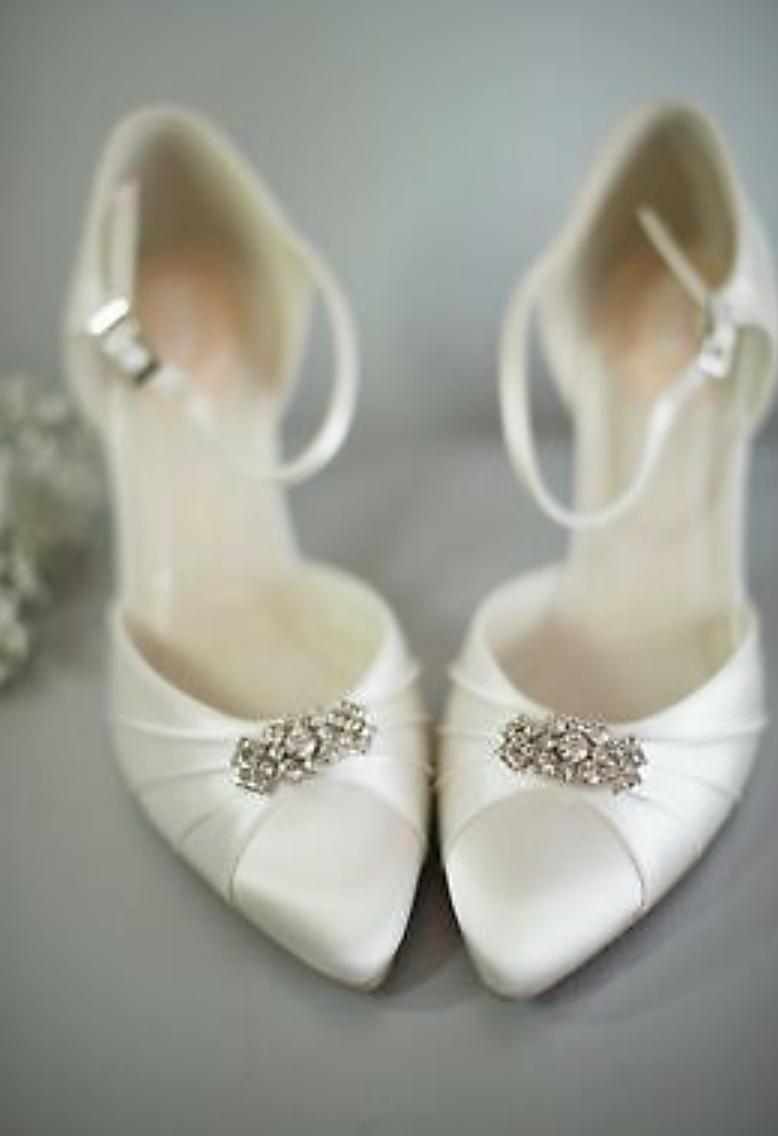 Pink Paradox Elegance Ivory Low Heel Shoe 2