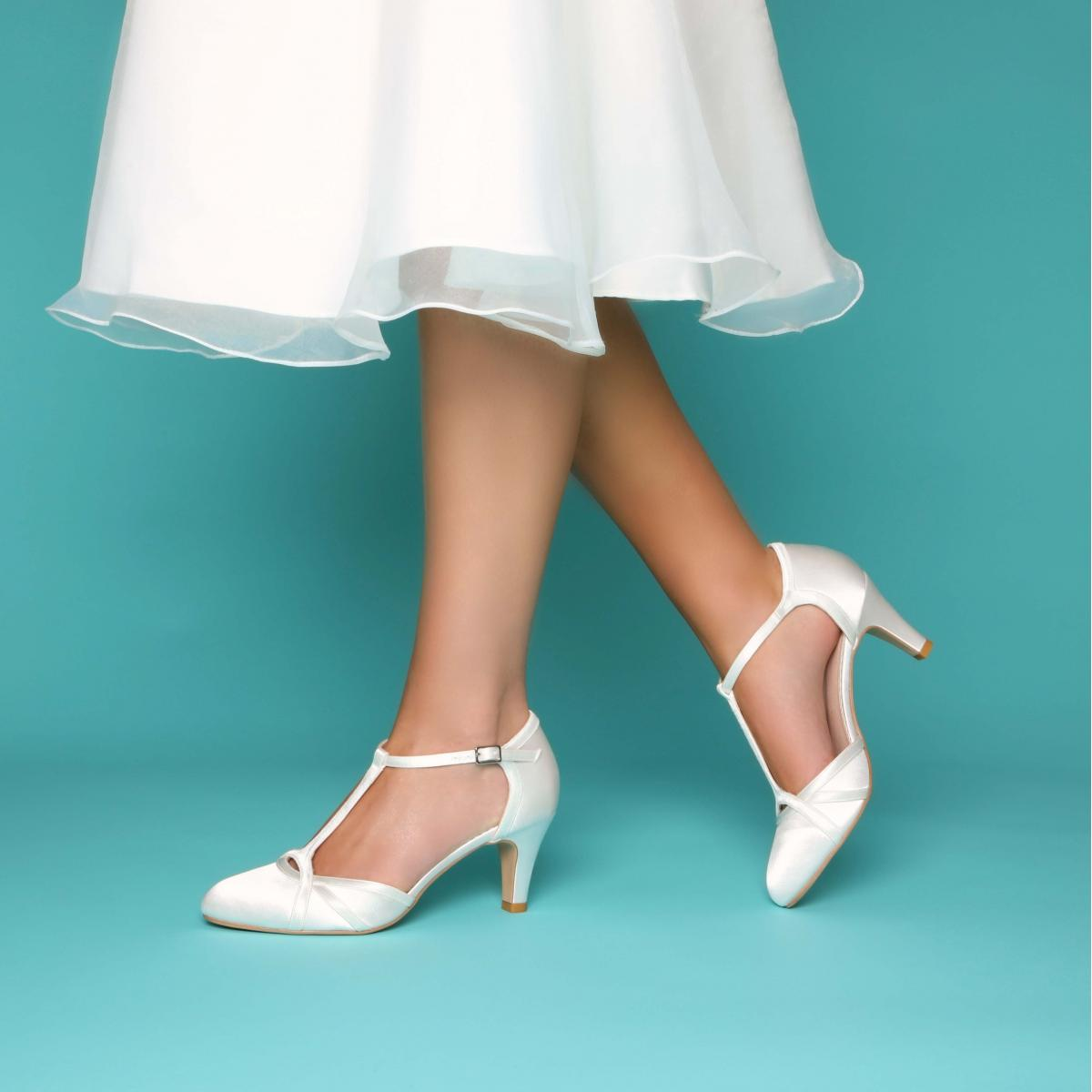 Perfect Bridal Belle Shoe - Ivory Satin 1