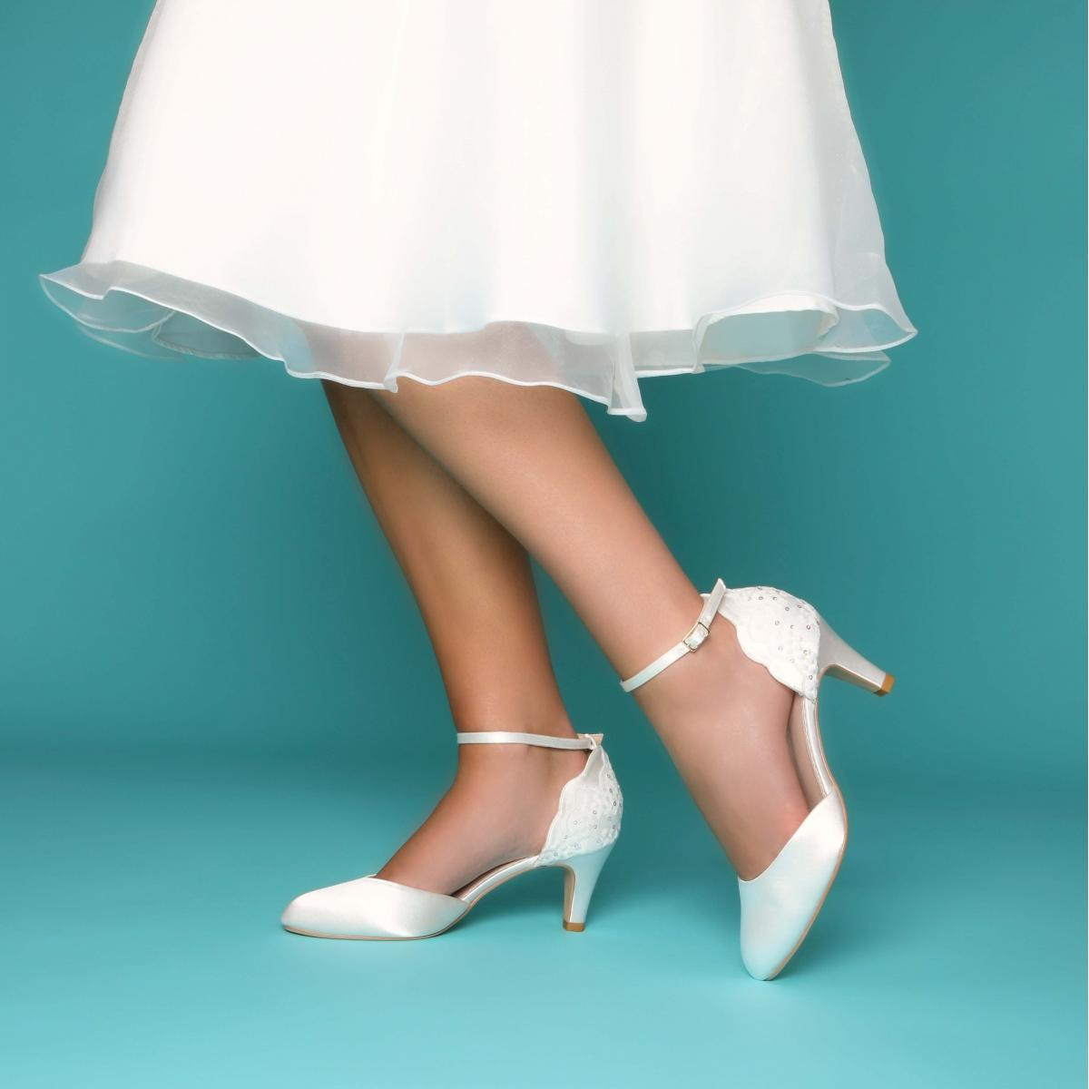 Perfect Bridal Clara Shoes - Ivory Satin 2