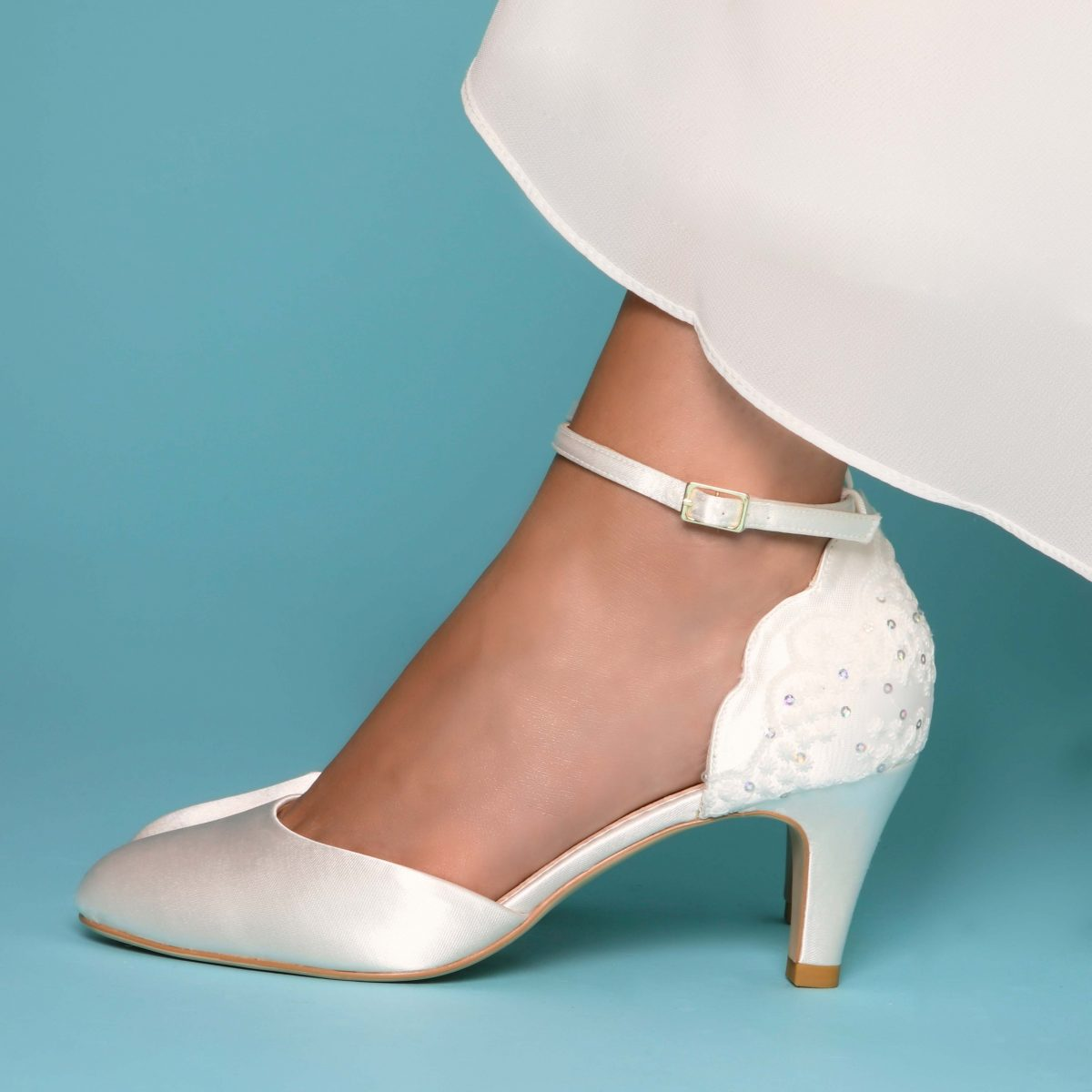 Perfect Bridal Clara Shoes - Ivory Satin 1