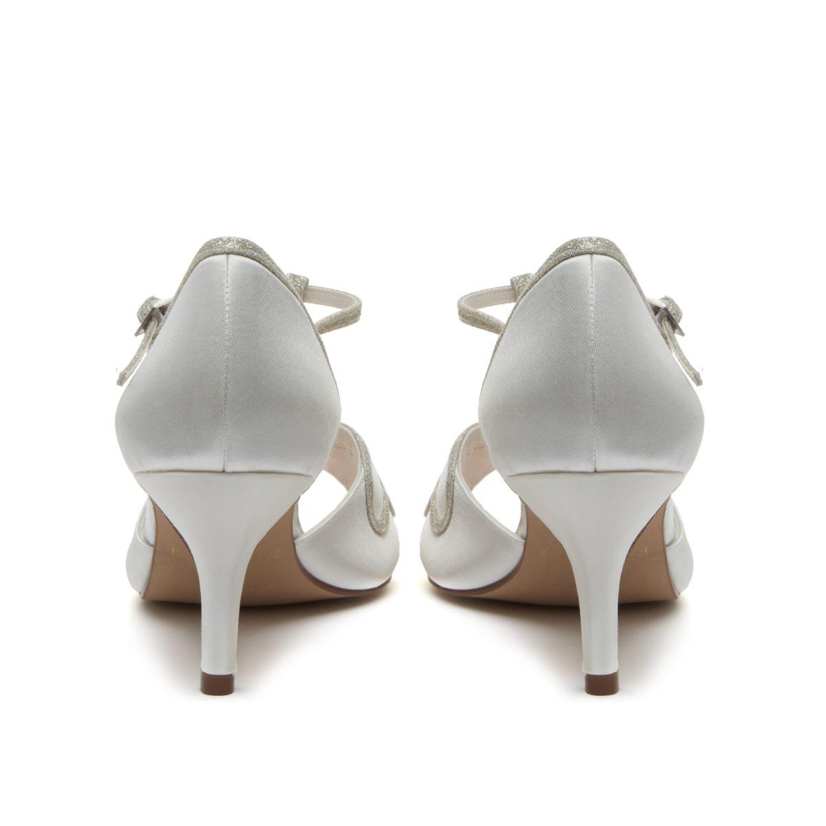 Rainbow Club Harlow - Peep Toe Satin/ Silver Shimmer Shoe 4