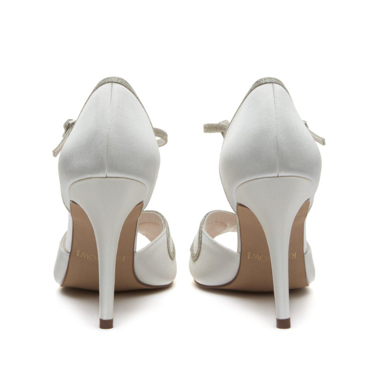 Rainbow Club Luciana - Peep Toe Satin/ Silver Shimmer Shoe 4