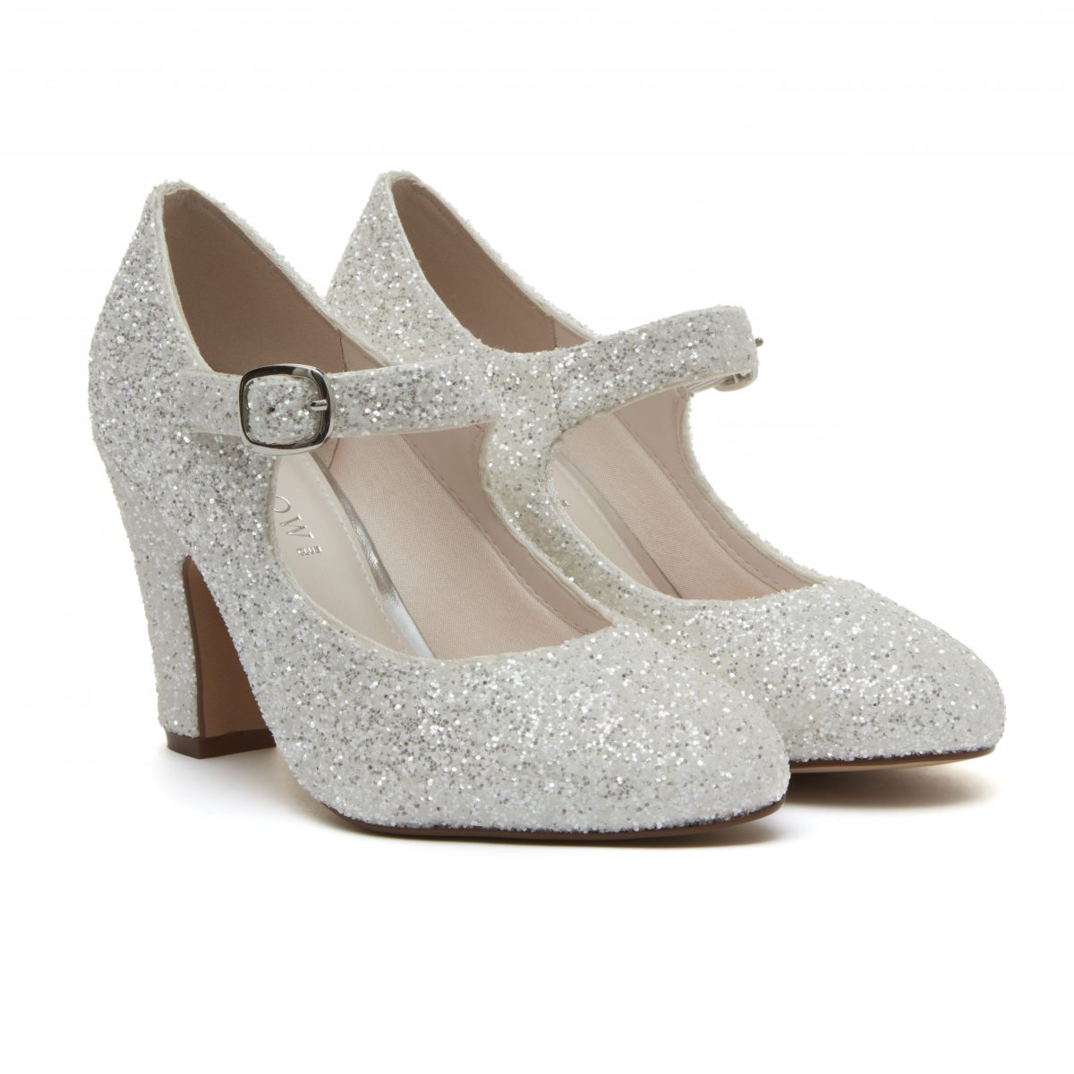 Rainbow Club Madeline Mary Jane Shoes - Snow Glitter 1