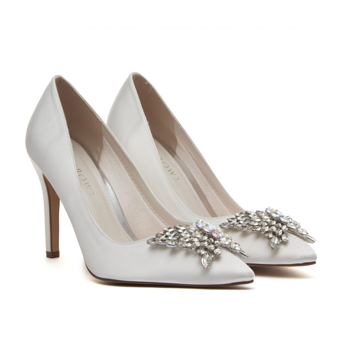 Rainbow Club Nelly - Ivory Satin Court Shoe 1