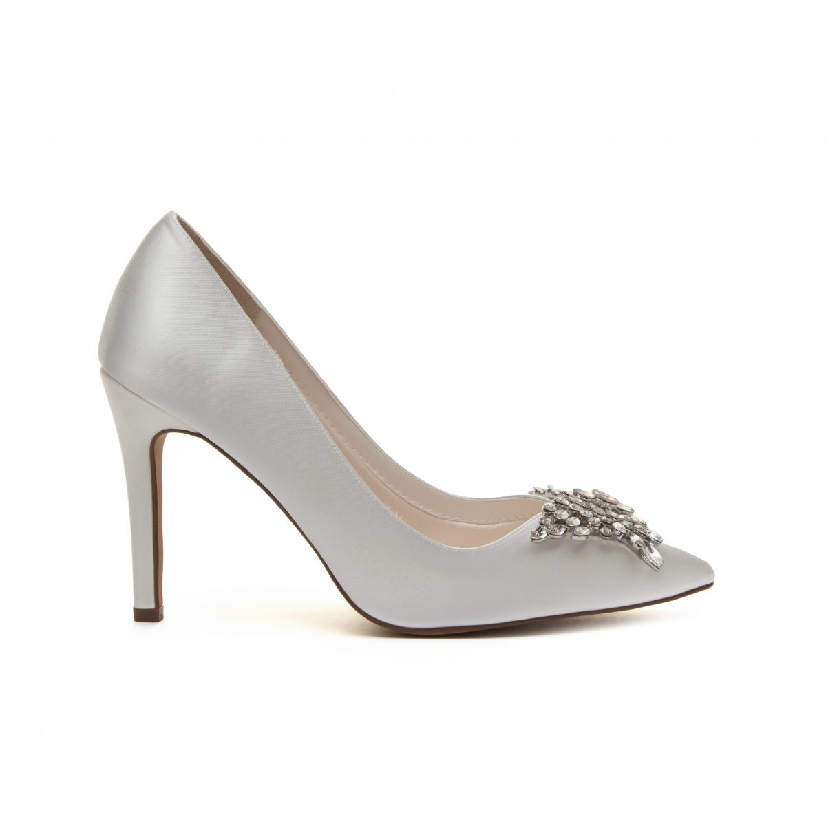Rainbow Club Nelly - Ivory Satin Court Shoe 2