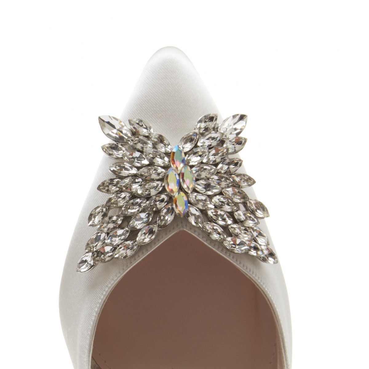 Rainbow Club Nelly - Ivory Satin Court Shoe 3