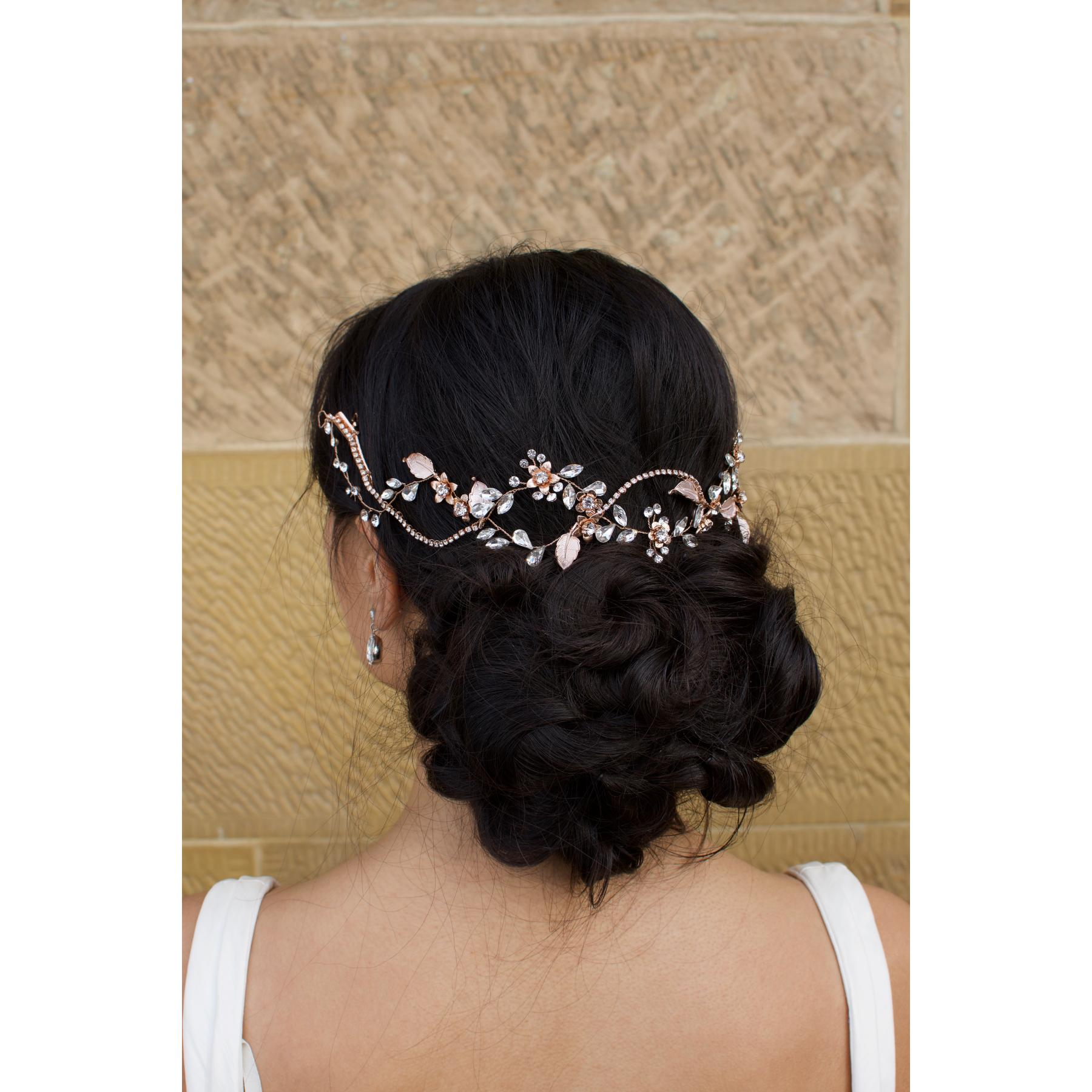 Windsor Elle Rose Gold Hair Vine - WV203 1