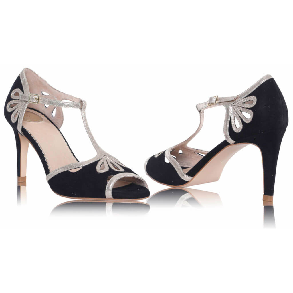 Perfect Bridal Esme Black/Gold - UK Size 4 & 7 (Euro 37 & 40) 3