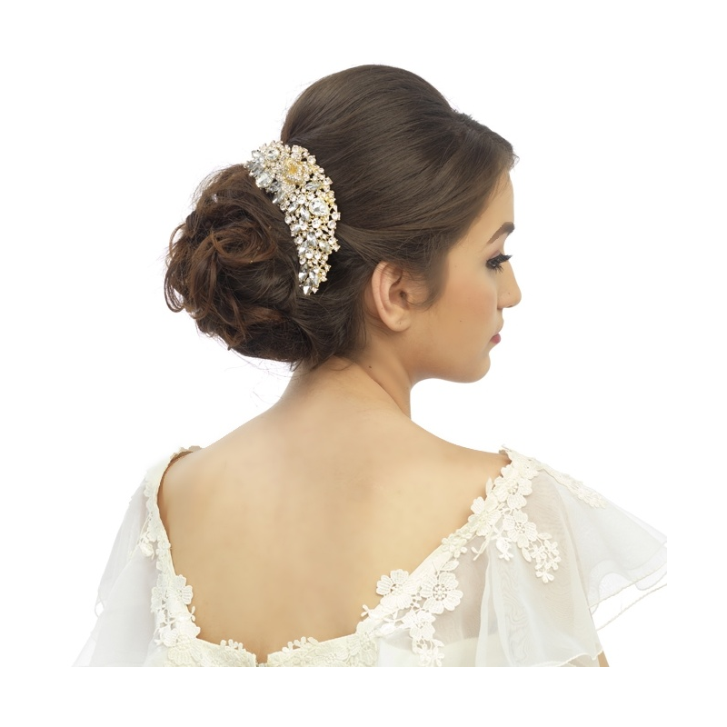 Exquisite Bridal Hair Comb - Gold 2