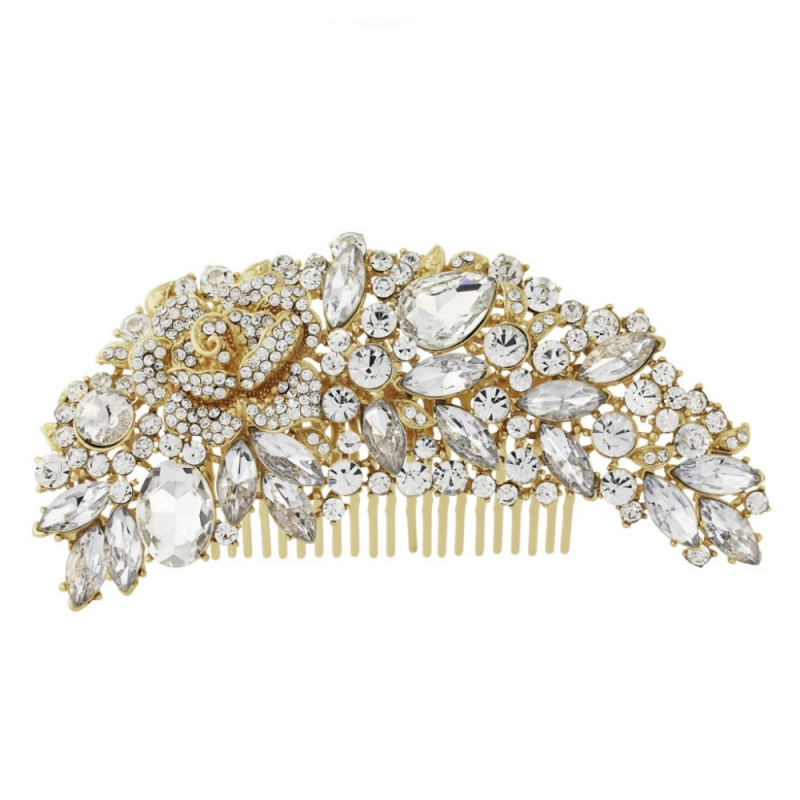 Exquisite Bridal Hair Comb - Gold 1