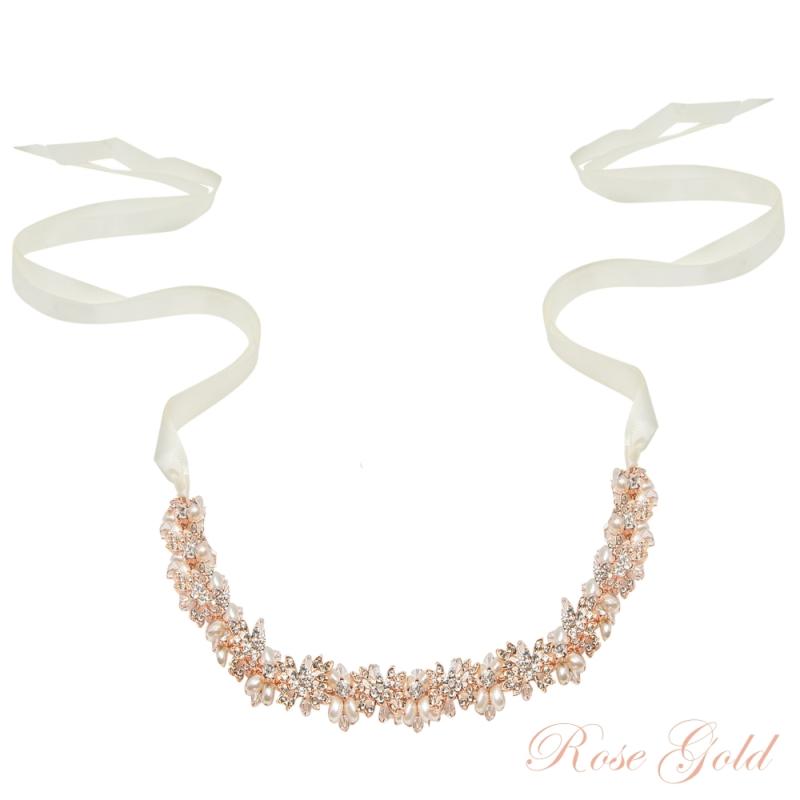 Athena Collection - Eva Chic Hair Vine - Rose Gold 1