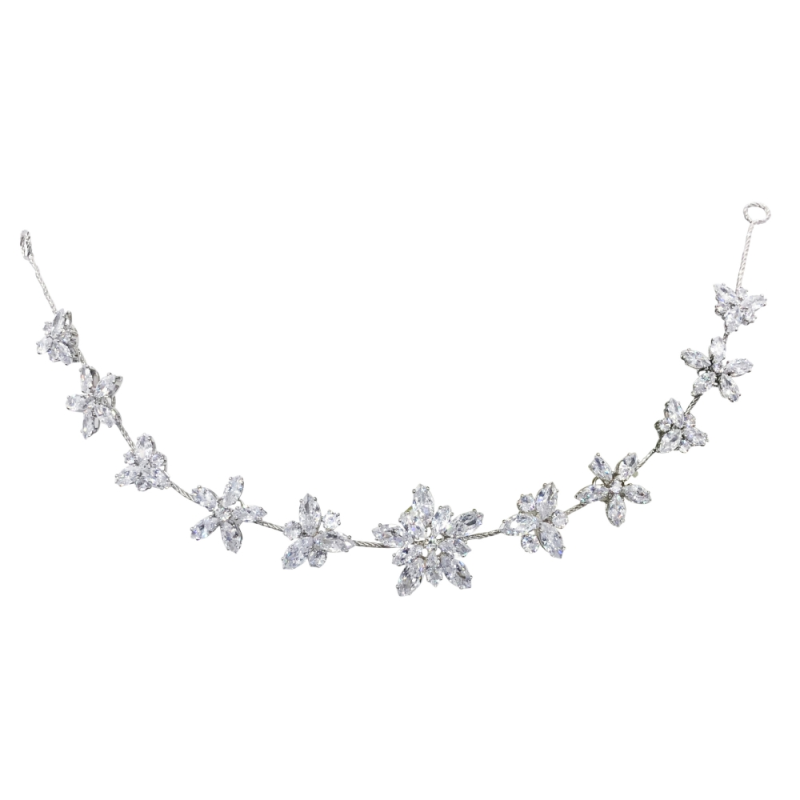 CZ Collection - Starburst Crystal Vine - Silver 3
