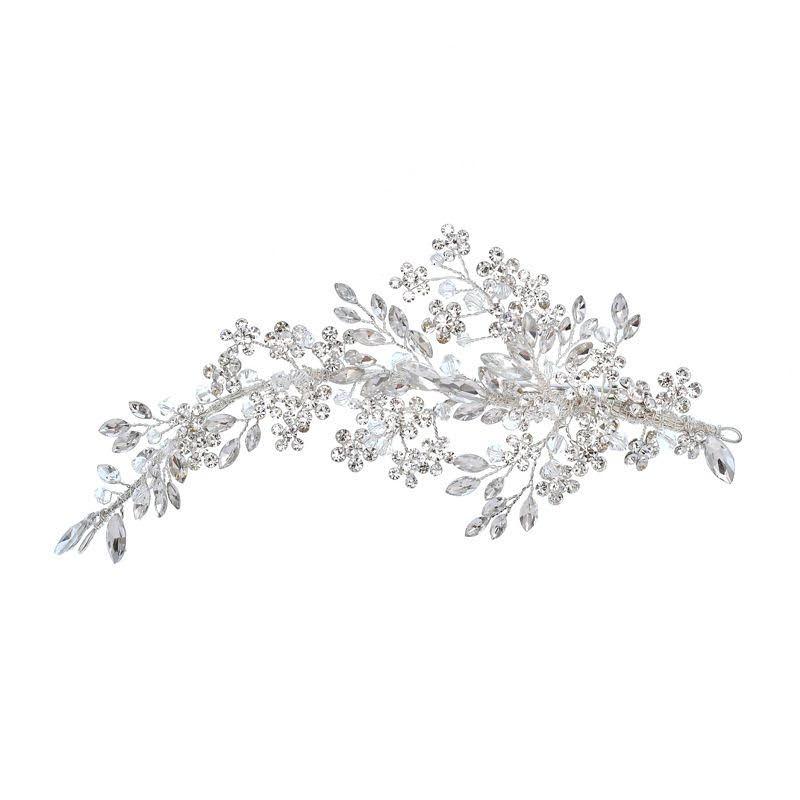 Athena Collection - Crystal Extravagance Headpiece - Silver 1