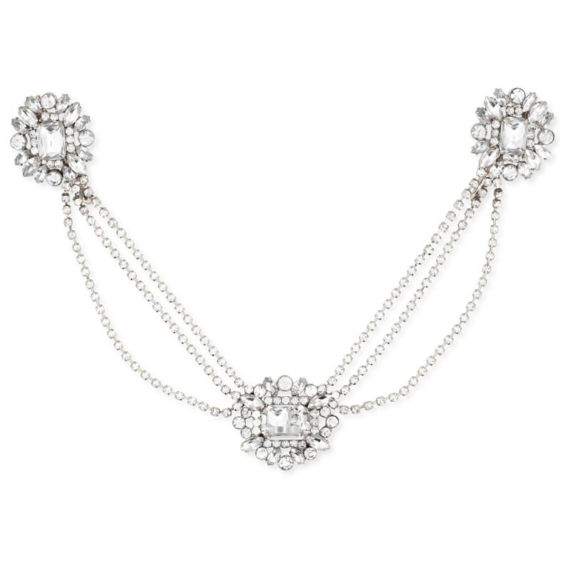 Sass B Vintage Heiress Crystal Headpiece - Silver 1