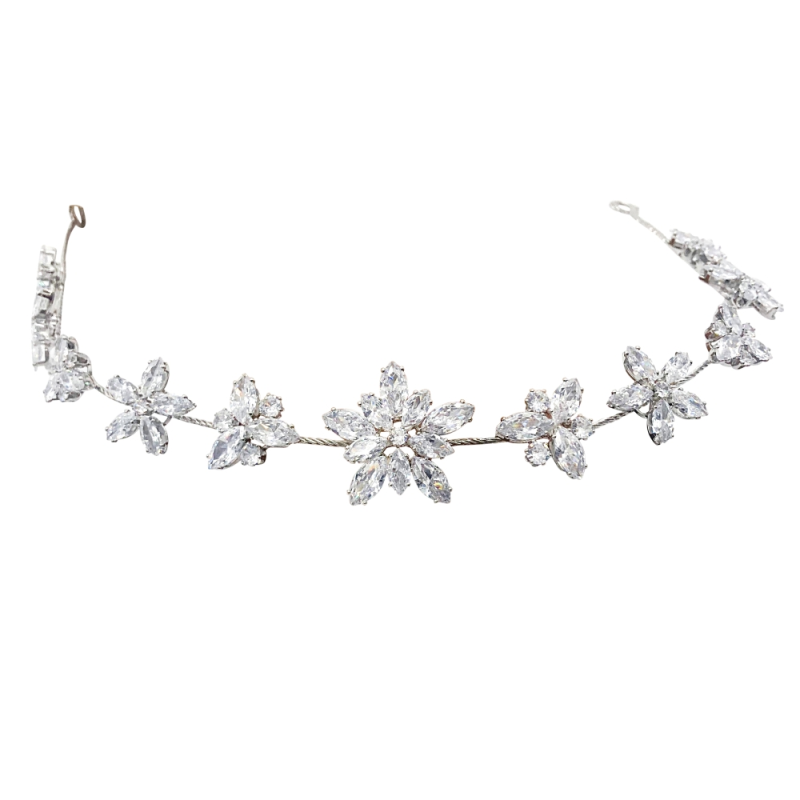 CZ Collection - Starburst Crystal Vine - Silver 2
