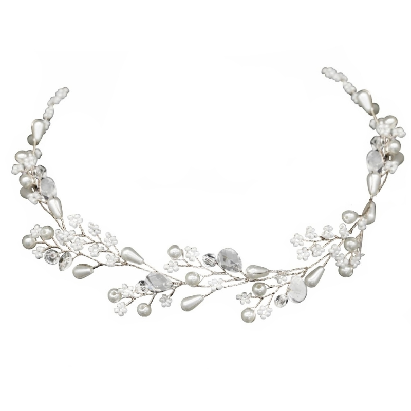 Athena Collection - Dainty Diva Hair Vine - Silver 1