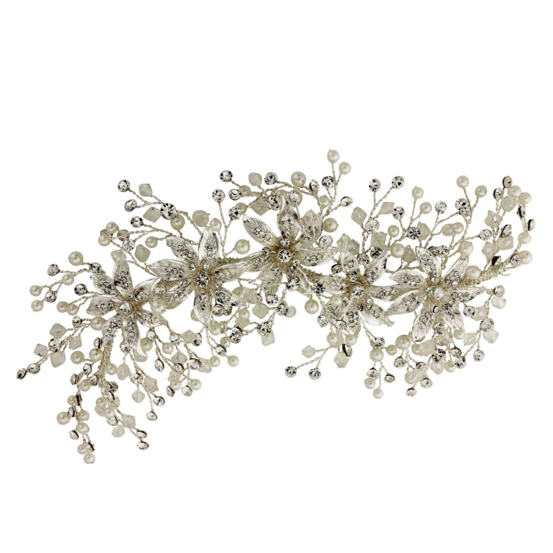 Sass B - Bejewelled Headpiece - Silver 1