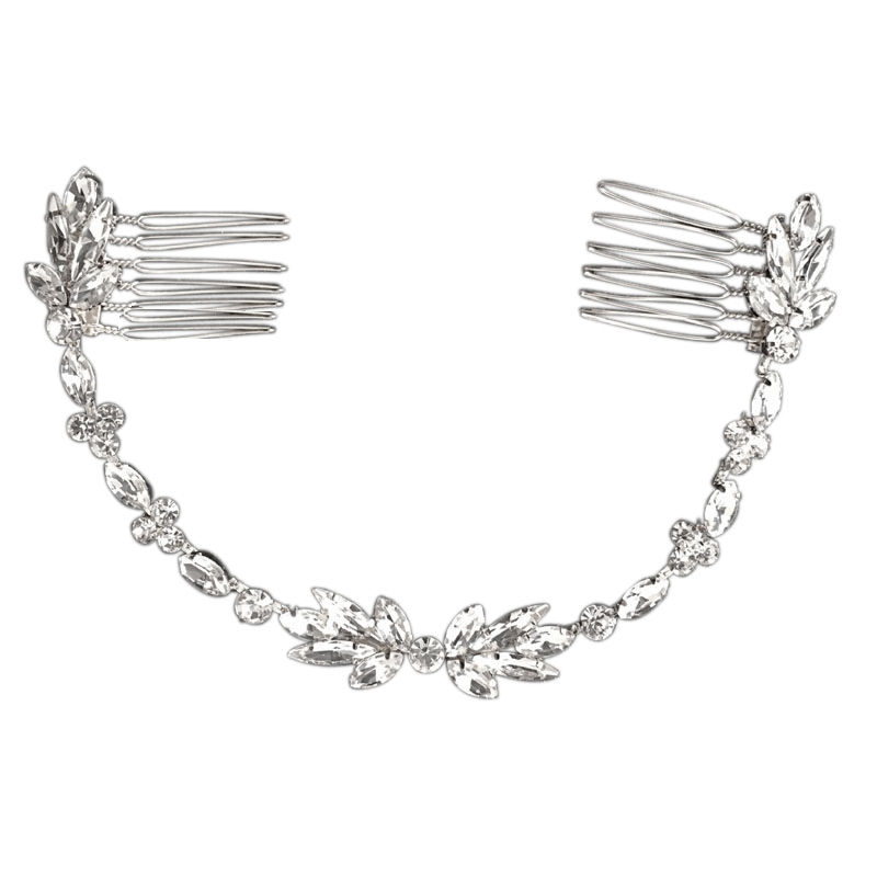 Athena Collection - Dainty Crystal Vine - Silver 1
