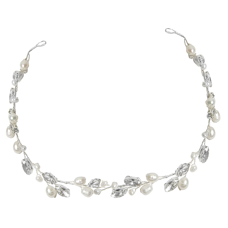 Athena Collection - Crystal Hair Vine and Pin Set - Silver 2