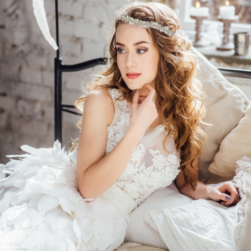 Athena Collection - Eva Chic Hair Vine - Rose Gold 2