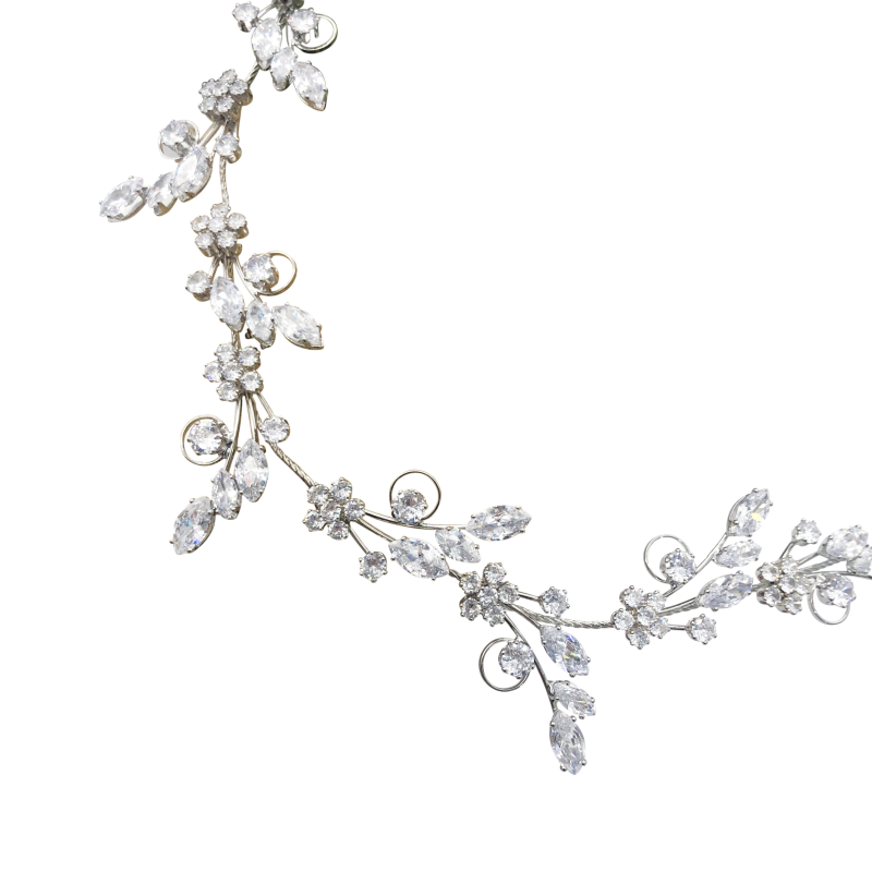 CZ Collection - Exquisite Sparkle Hairvine - Silver 2