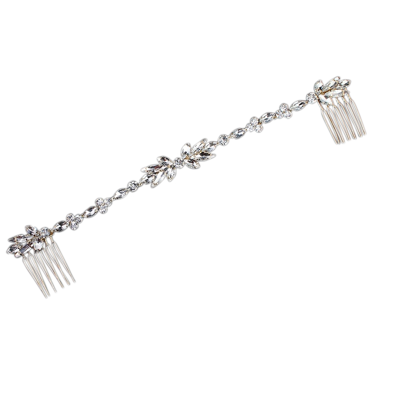 Athena Collection - Dainty Crystal Vine - Silver 2
