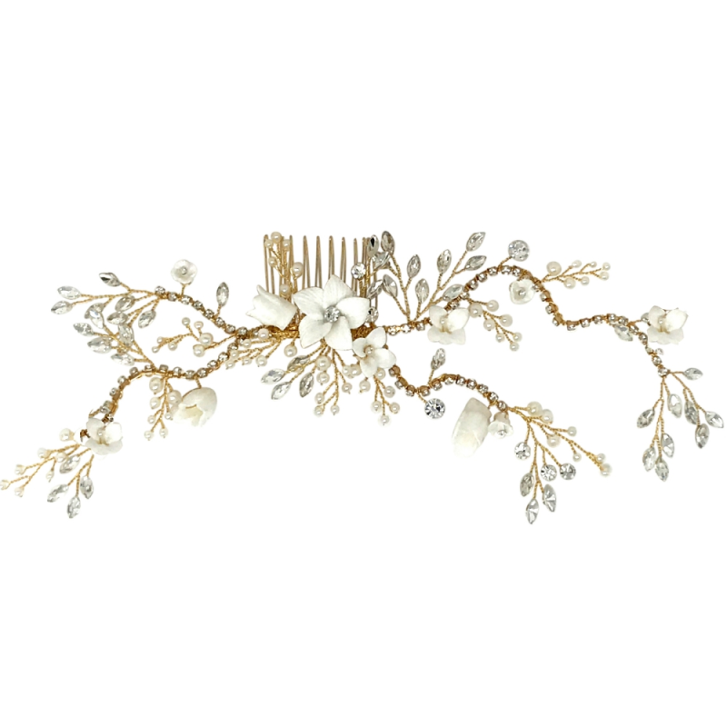 Athena Vintage Luxe Hair Comb - Gold 3