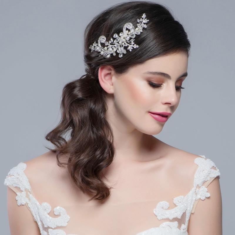 Sass B Collection - Elise Exquisite Flexible Headpiece - Silver 2