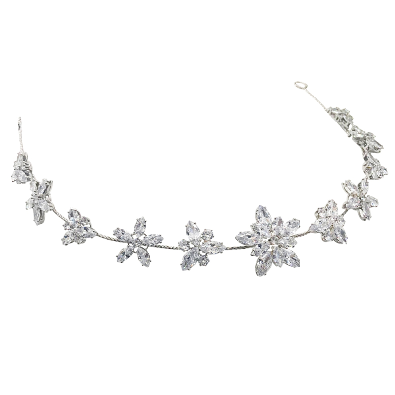 CZ Collection - Starburst Crystal Vine - Silver 1