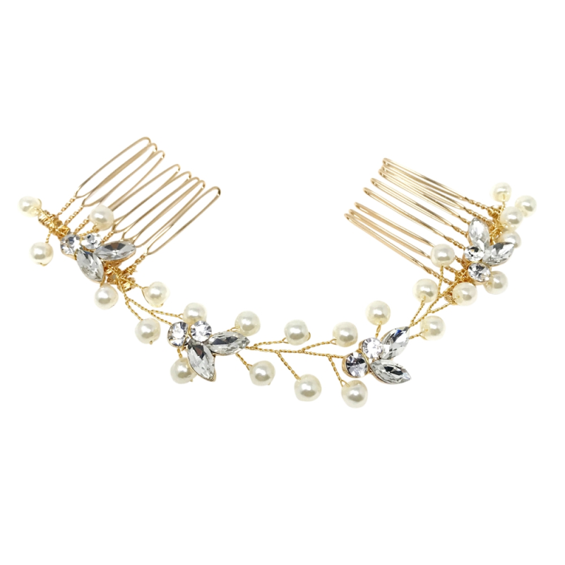 Athena Collection - Dainty Pearl Vine - Gold 1