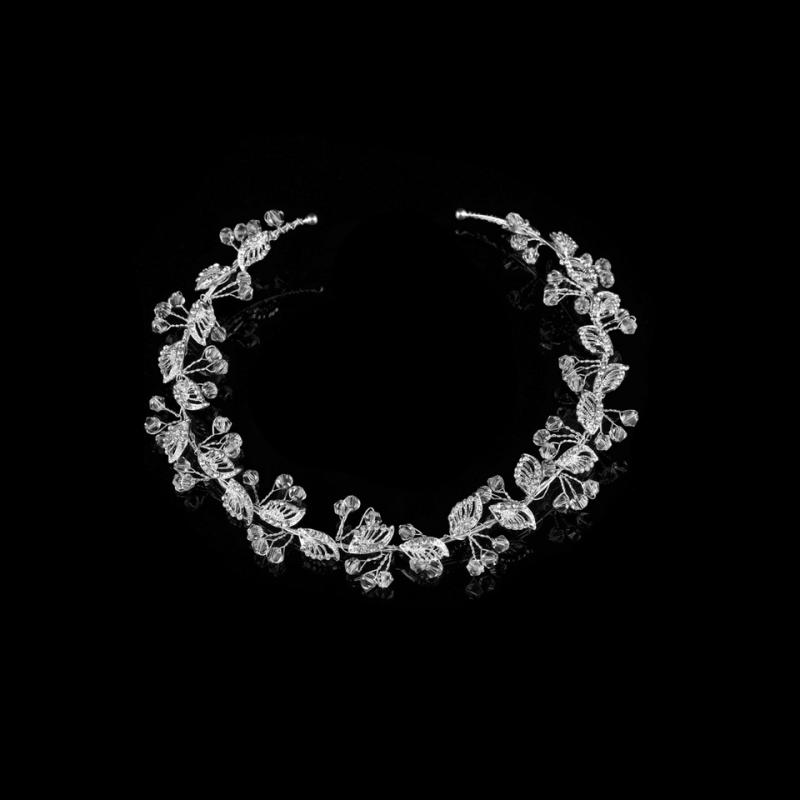 Athena Collection - Dainty Crystal Bridesmaid Vine 2