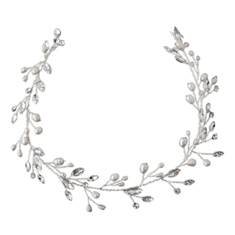 Athena Collection - Classic Crystal Vine - Silver 1