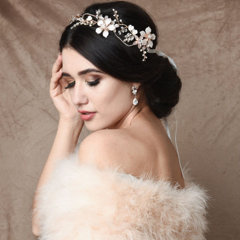 Athena Collection - Exquisite Romance Vine - Blush Pink/Gold 2