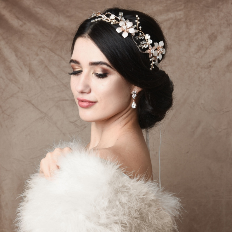 Athena Collection - Exquisite Romance Vine - Blush Pink/Gold 3