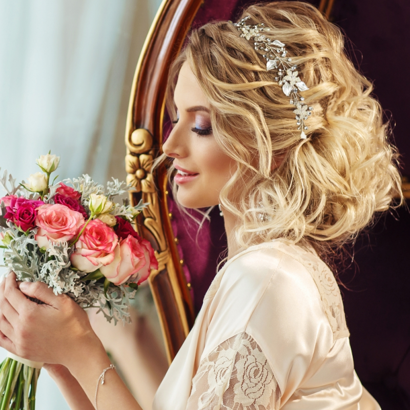 Athena Collection - Crystal Elegance Hair Vine -  Rose Gold 2