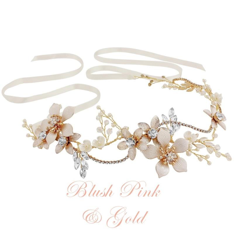 Athena Collection - Exquisite Romance Vine - Blush Pink/Gold 1