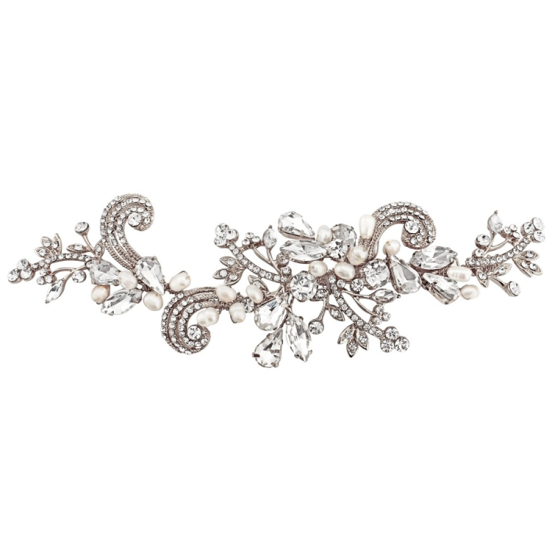 Sass B Collection - Elise Exquisite Flexible Headpiece - Silver 1