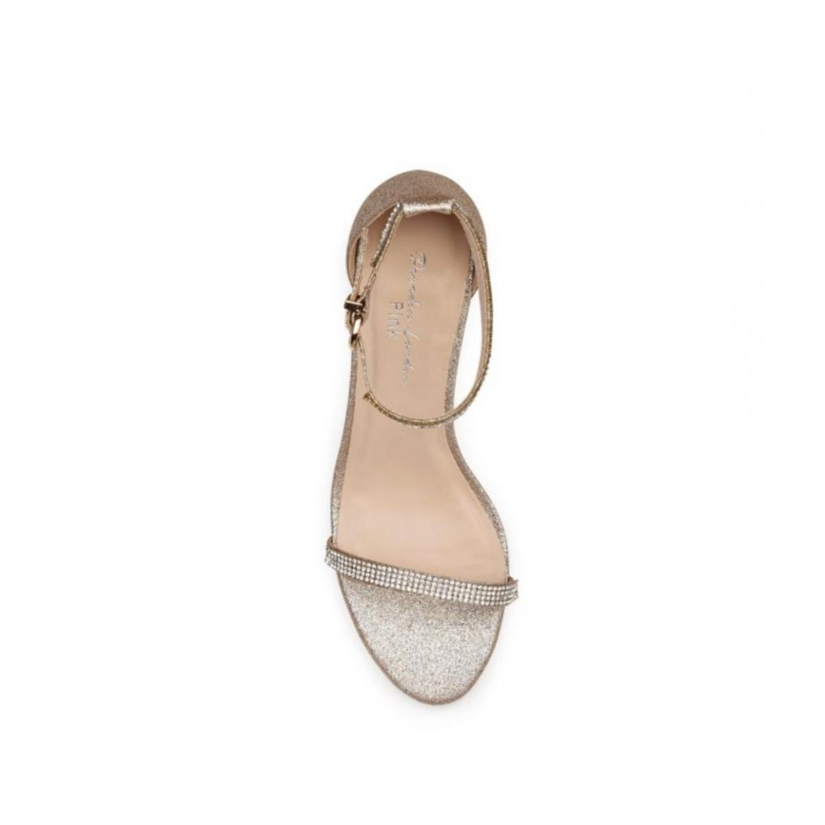 Pink Paradox Star - Nude Shimmer High Heel Barely There Sandal 3