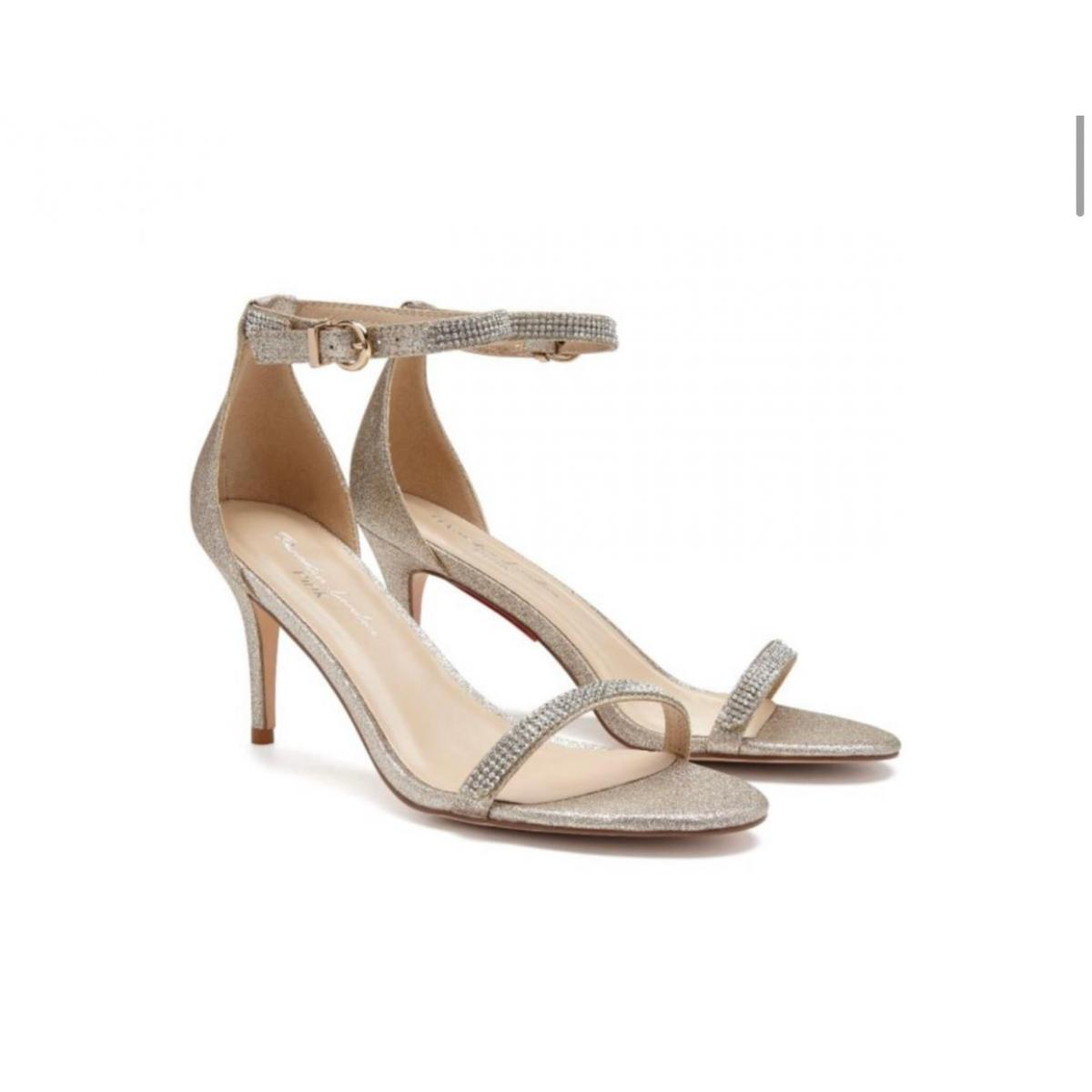 Pink Paradox Star - Nude Shimmer High Heel Barely There Sandal 2