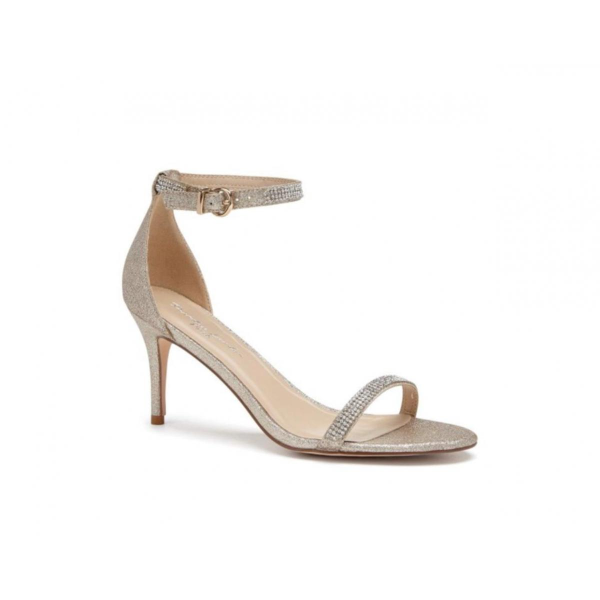 Pink Paradox Star - Nude Shimmer High Heel Barely There Sandal 1