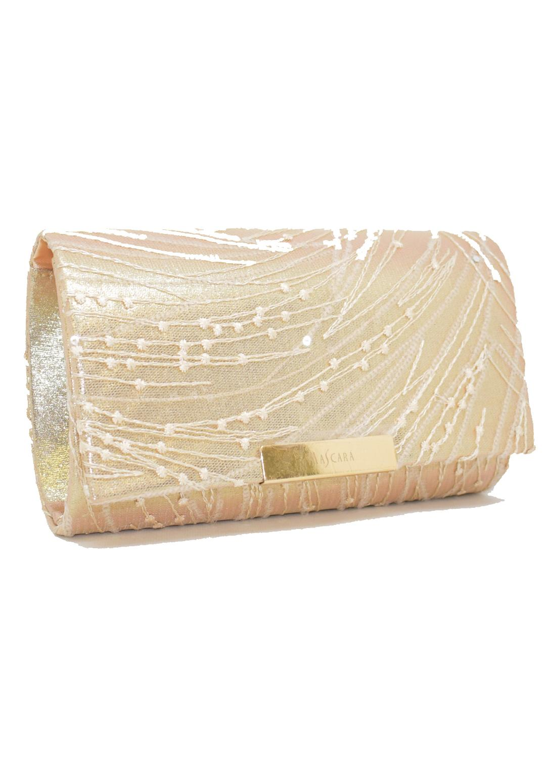 Mascara Pearl Strings Clutch Bag - Champagne 1