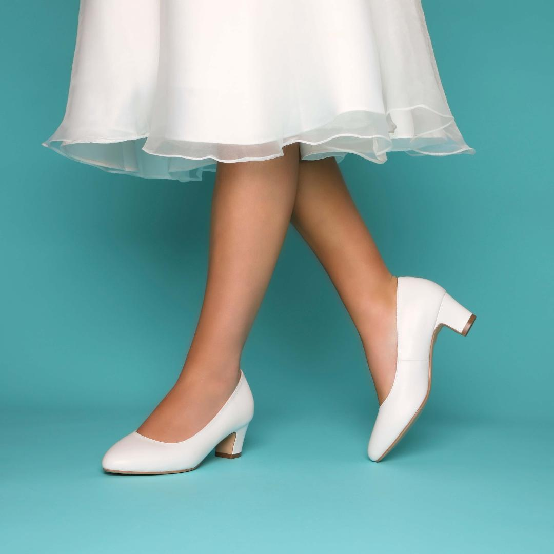 Perfect Bridal Melanie Shoes - Ivory Leather 1