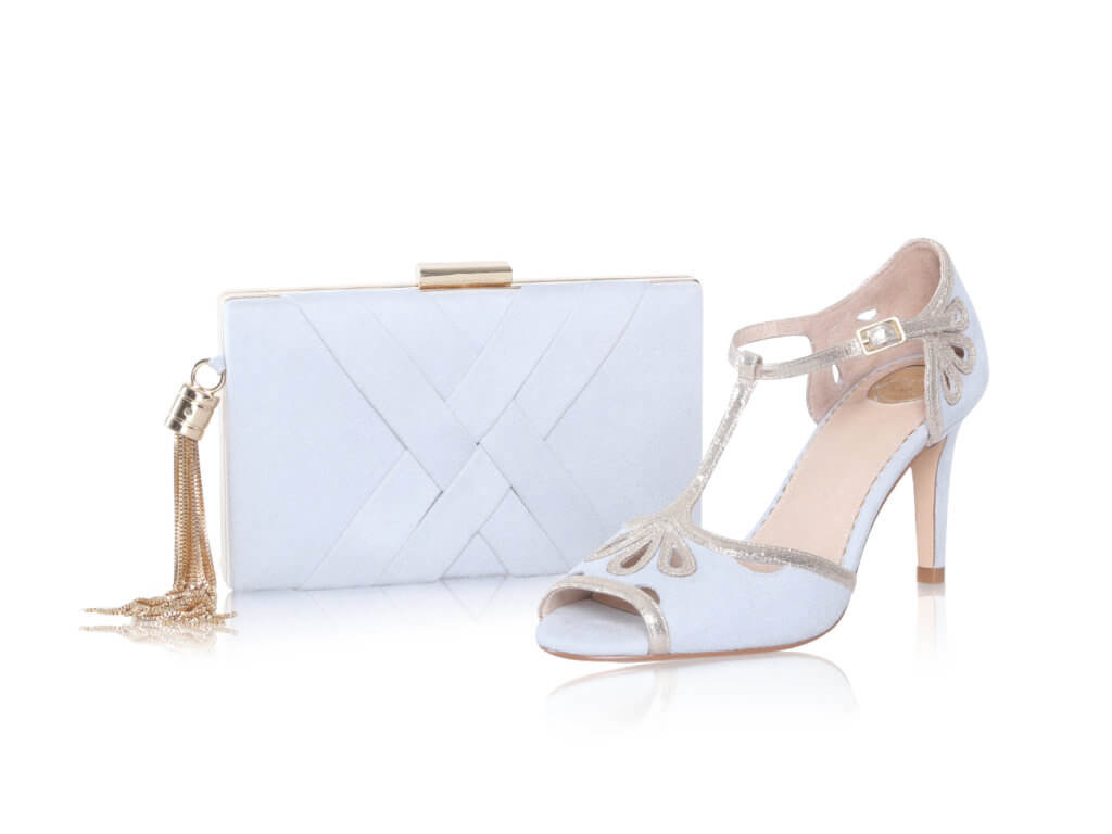 Perfect Bridal Anise Bag - Pearl Grey Ultra suede 1