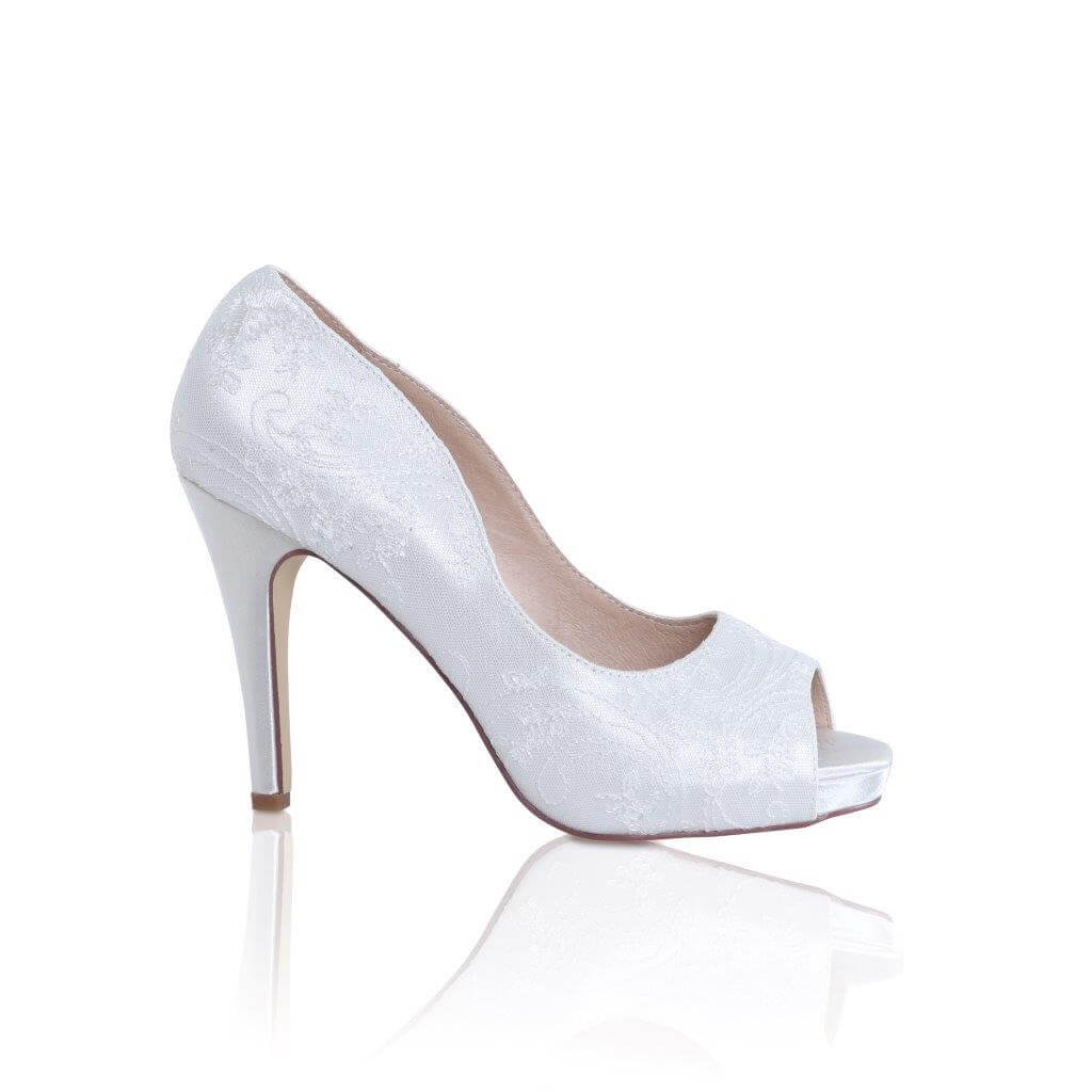 Perfect Bridal Celia Shoes - Ivory Satin 1